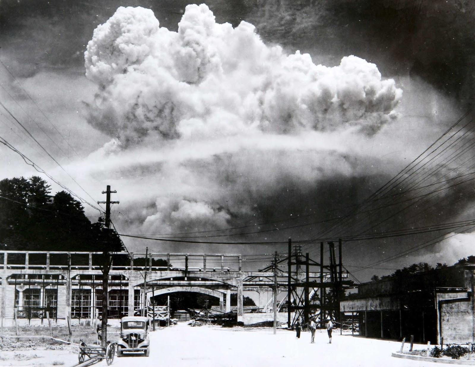Грибное облако над Нагасаки