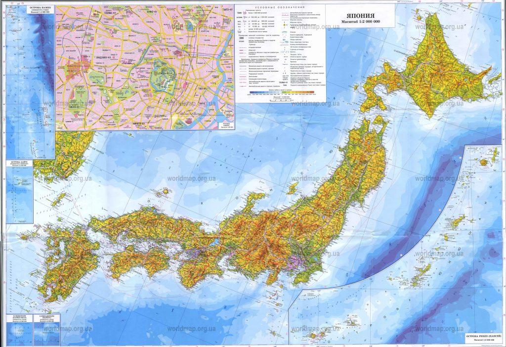 Рельеф Японии