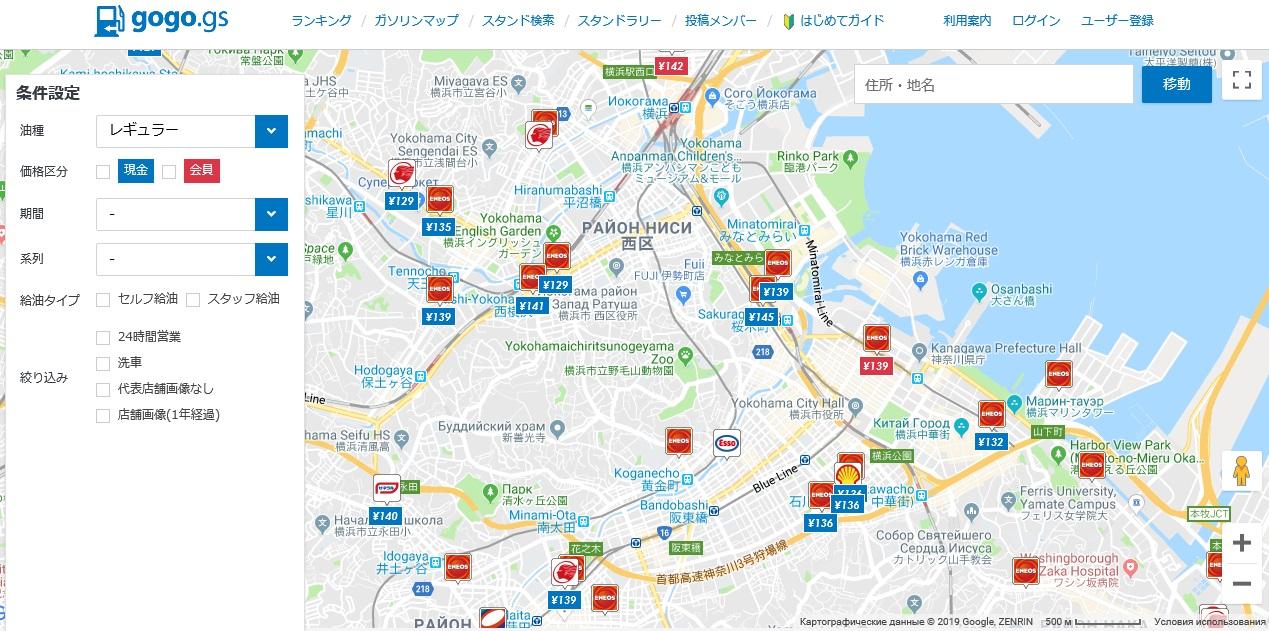 актуальные цены на бензин в Японии